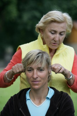 Linda does Ear TTouches on Olympic Equestrian, Ingrid Klimke.