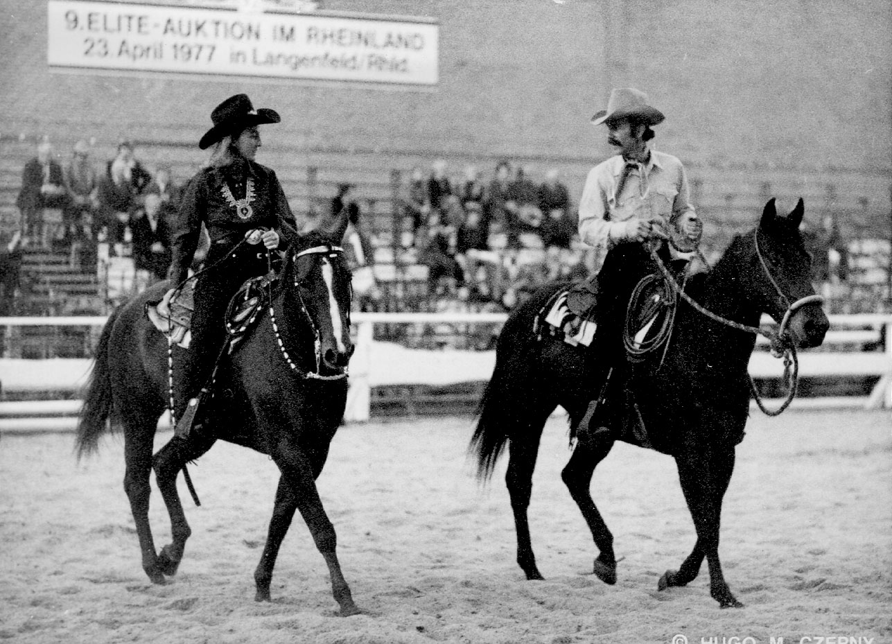 I helped introduce Quarter Horses and Western riding to Germany at one of the earlier Equitana's I attended.