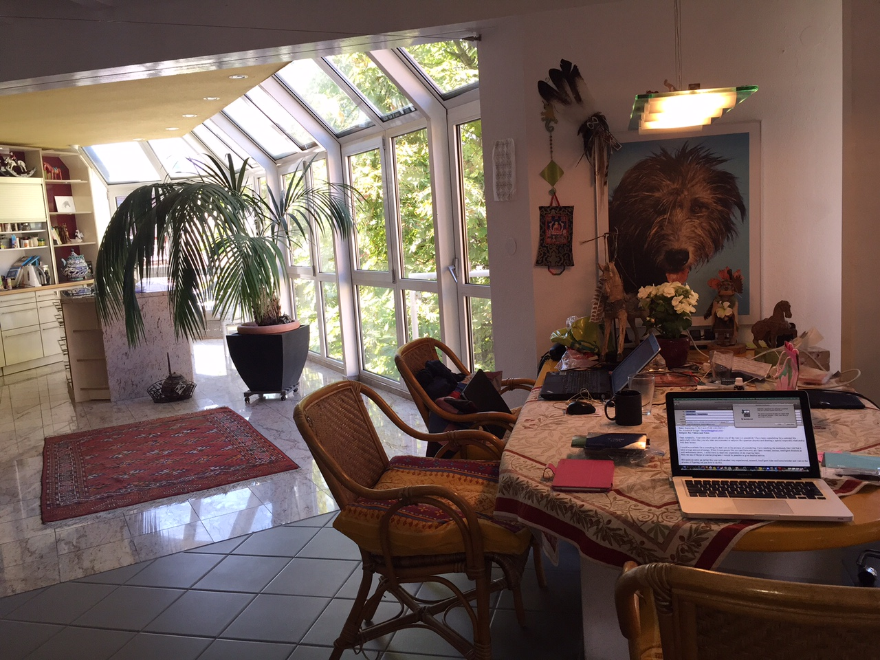 our home away from home in Speyer--look at all that light!